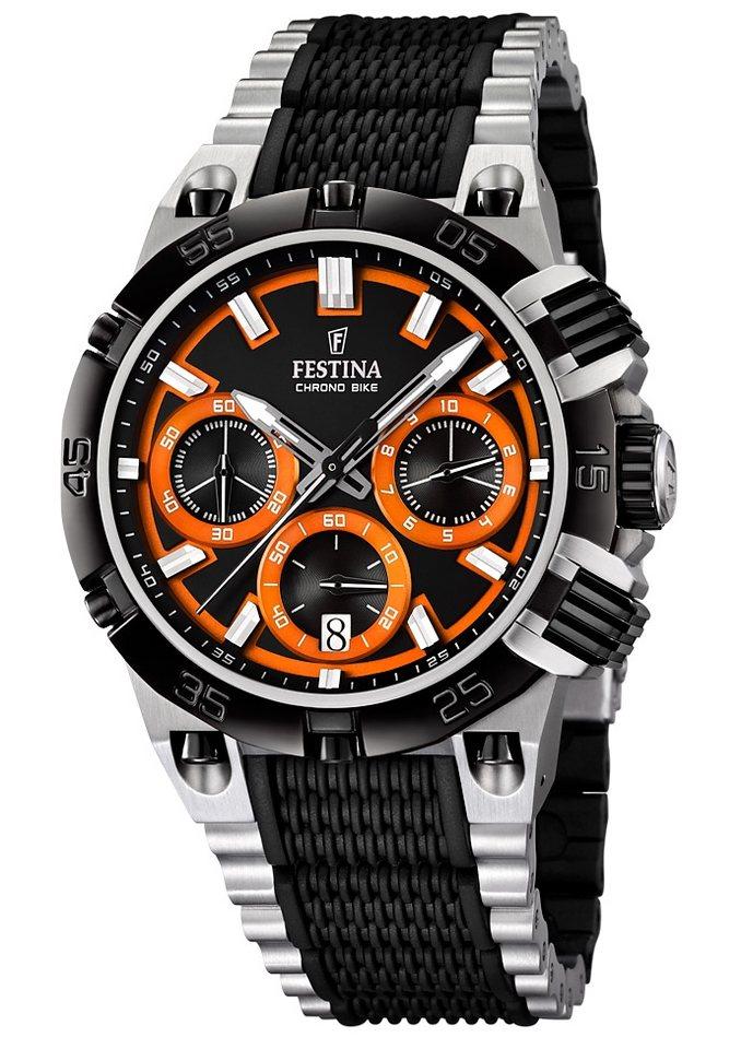 "Festina, Chronograph, ""F16775/6"" in schwarz-orangefarben"