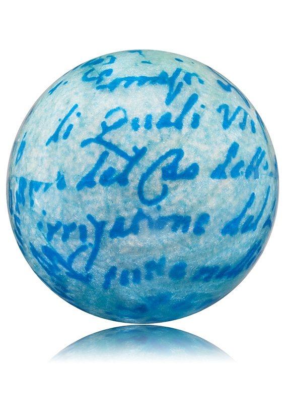 Engelsrufer, Klangkugel blau, »ERS-WATER« in blau