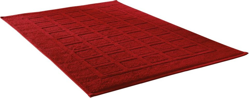 Badematte, Dyckhoff, »Planet«, Höhe ca. 3mm, Bio-Baumwolle, 2-er Set Hotelmatte in rot
