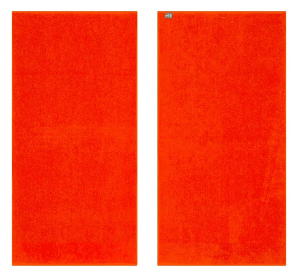 Badetuch, KAS, »Soft«, mit leuchtenden Farben in orange