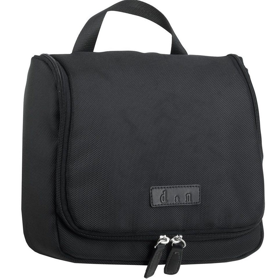 d & n Business & Travel Kulturtasche 26 cm in schwarz