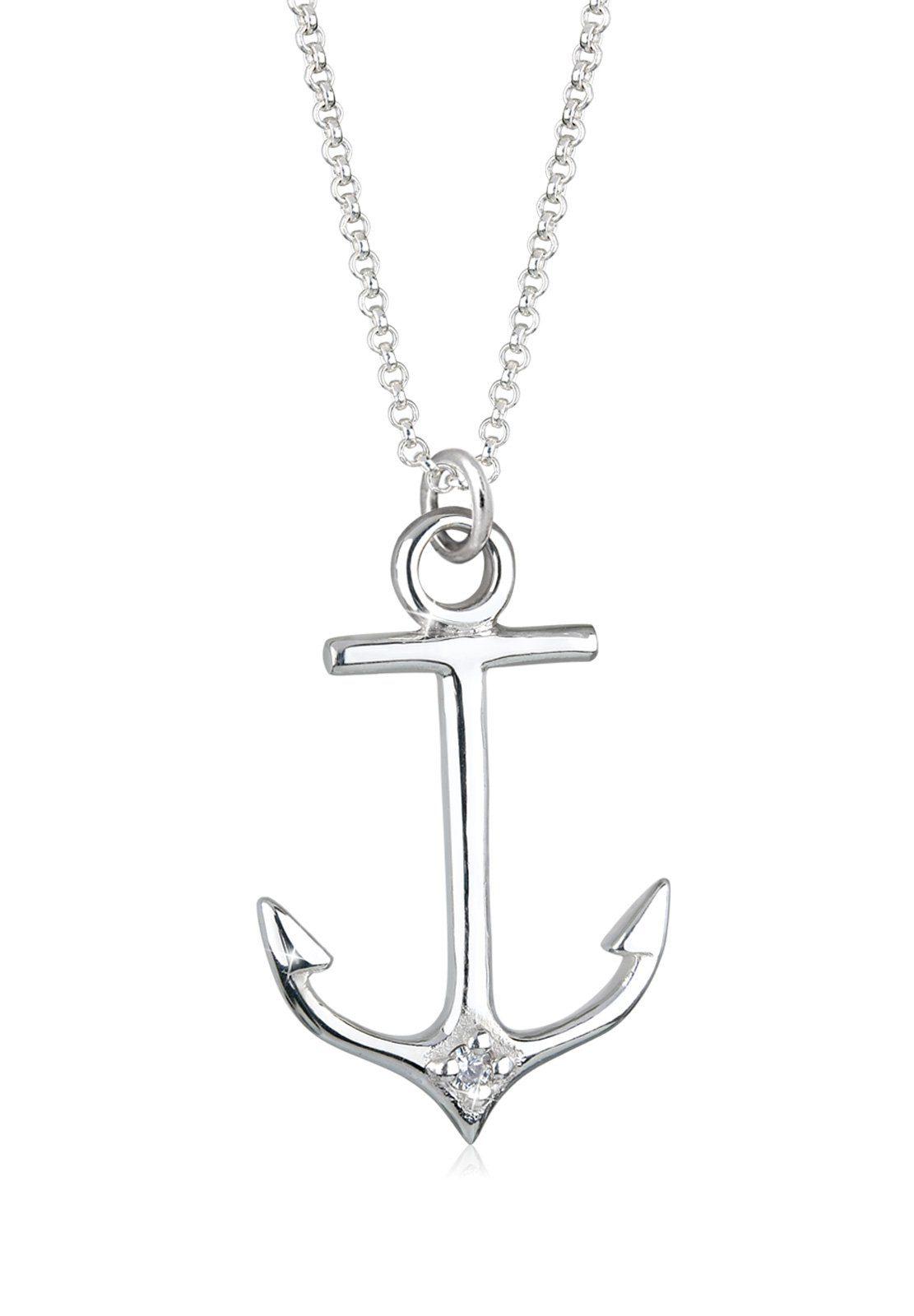 Elli Halskette »Anker Maritim Hanseatisch 925 Silber«