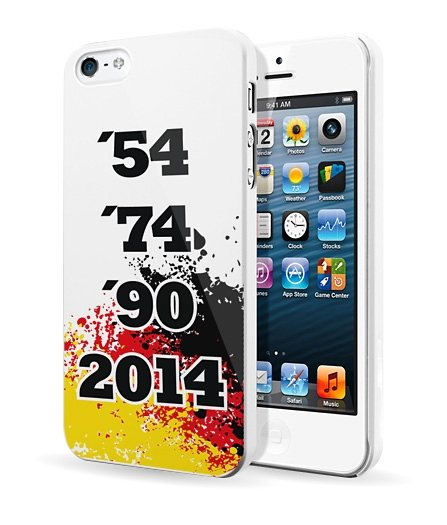Diverse HardCase »Stars 54-2014 iPhone (5/5S)« in schwarz