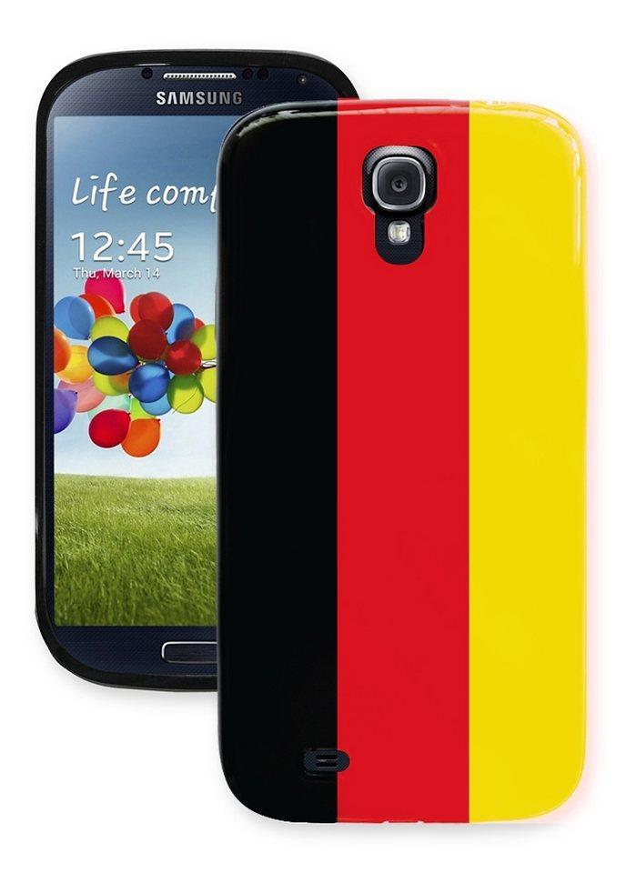 Diverse TPU »WM Stars Flagge Samsung Galaxy S4« in schwarz