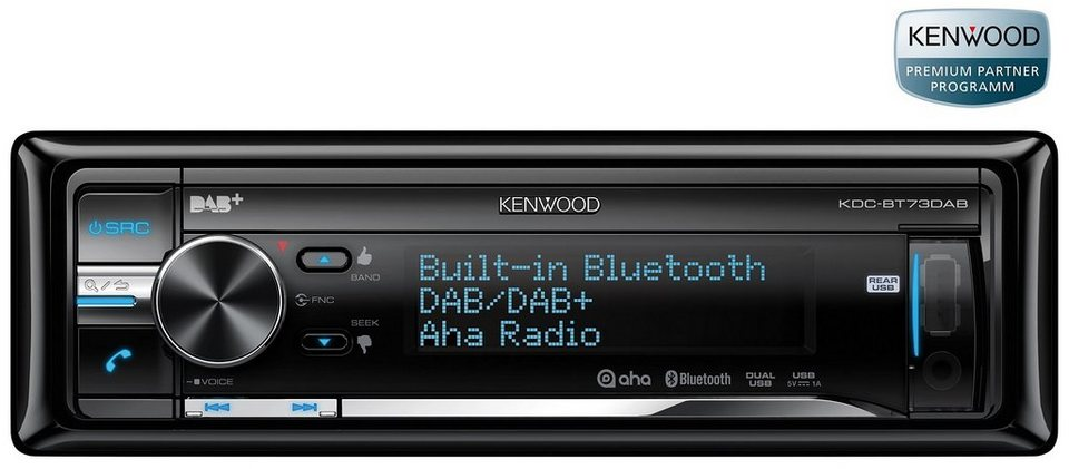 Kenwood 1-DIN Digital-Autoradio »KDC-BT73DAB«