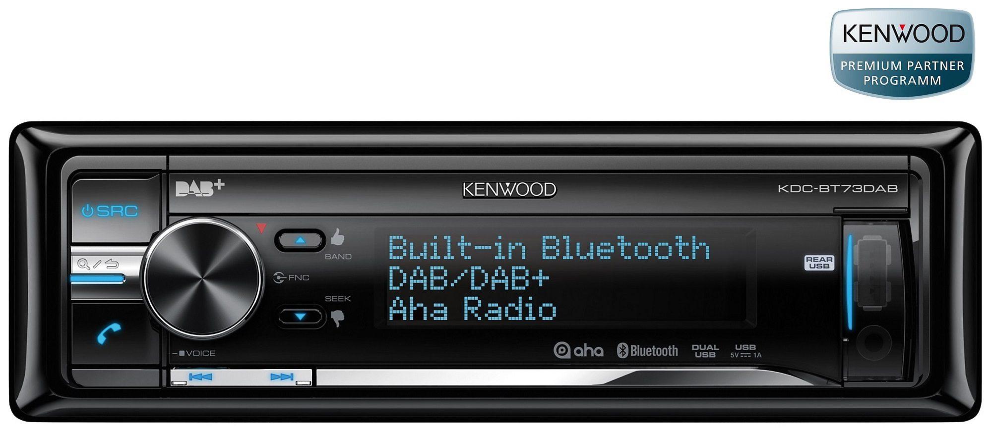 Kenwood 1-DIN Digital-Autoradio »KDC-BT73DAB«