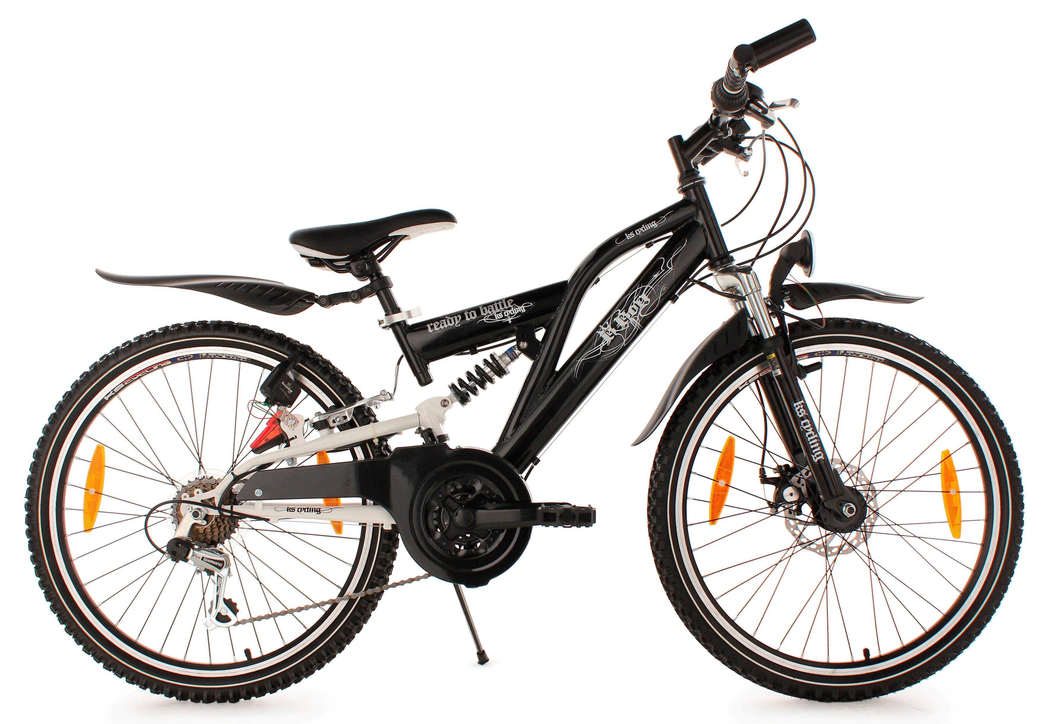 Jugend Mountainbike, 24 Zoll, schwarz, 18-Gang-Kettenschaltung, »B-Boy«, KS Cycling