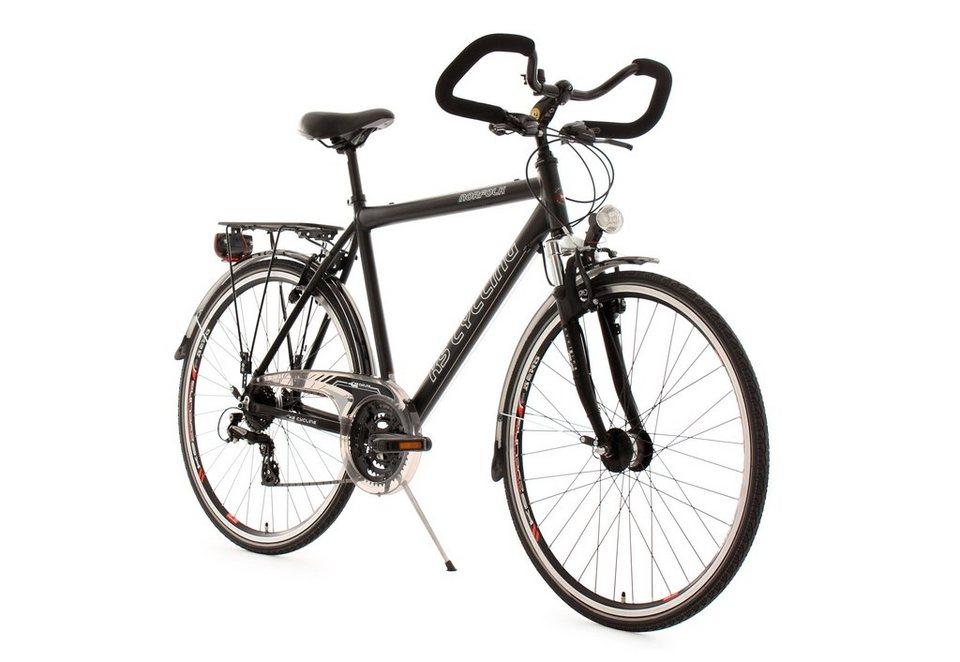 herren trekkingrad 28 zoll schwarz 24 gang kettenschaltung norfolk ks cycling online. Black Bedroom Furniture Sets. Home Design Ideas