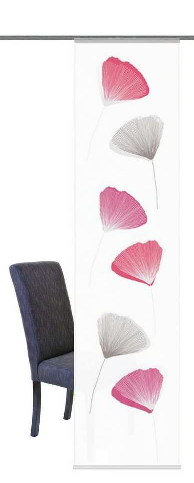 Schiebegardine, Home Wohnideen, »Iona« (1 Stück mit Zubehör) in pink
