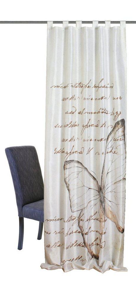 Vorhang, Home Wohnideen, »Avonia«, mit Schlaufen (1 Stück) in beige