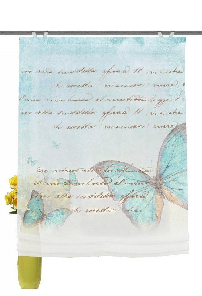 Raffrollo, Home Wohnideen, »Whitehall« (1er Pack) in blau