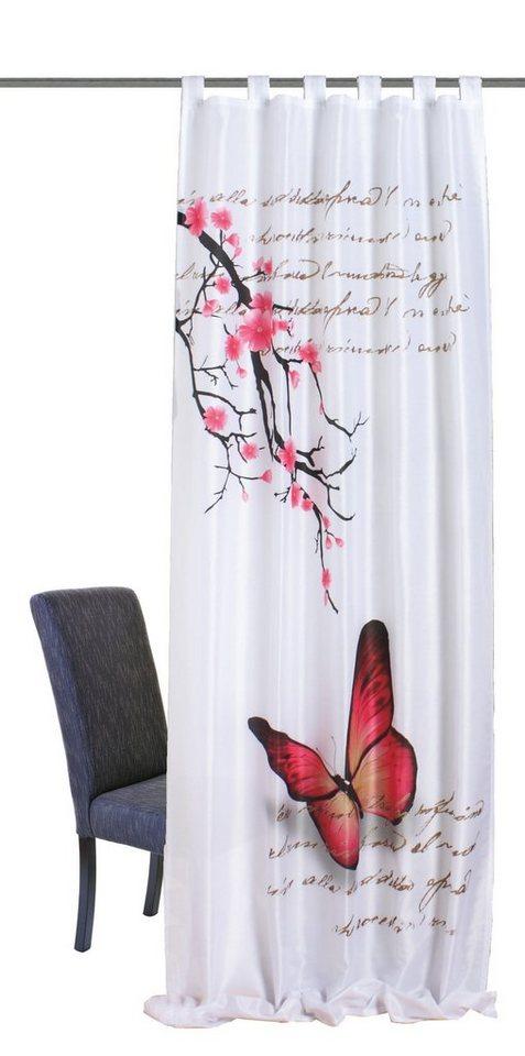 Vorhang, Home Wohnideen, »Cordova« (1 Stück) in fuchsia
