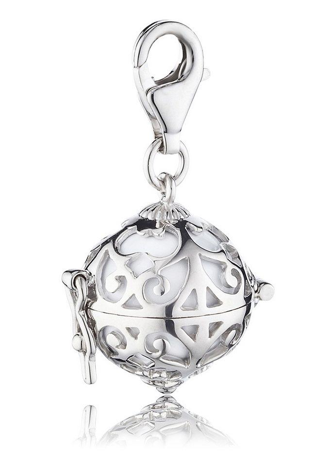 Charms-Einhänger, »ERC-01«, Engelsrufer in Silber 925/weiß