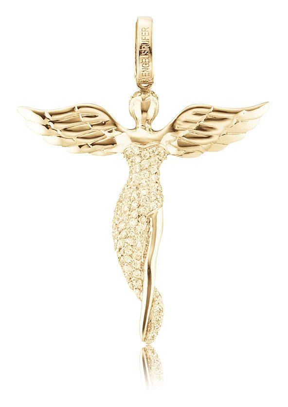 Halskette mit Engel-Anh/änger goldfarben