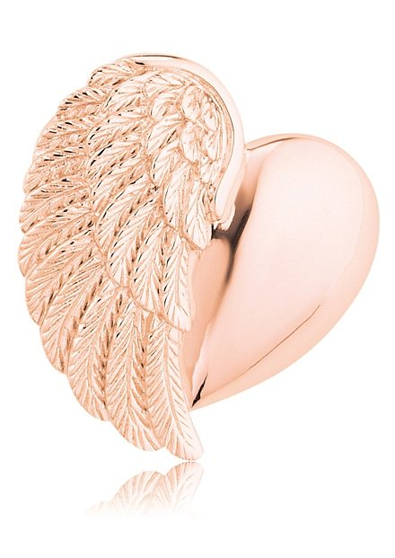 Engelsrufer Halsschmuck: Anhänger ohne Kette »Herzflügel, ERP-HEARTWING-R« in Silber 925, roségoldfarben vergoldet