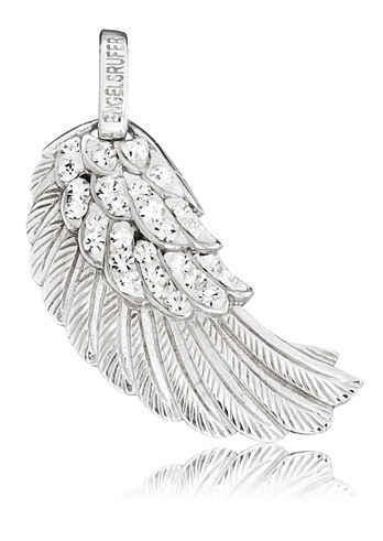 Engelsrufer Flügelanhänger »Where the angels fly, FLÜGEL CRYSTAL SILBER, ERW-01-ZI«, mit Preciosa Crystals
