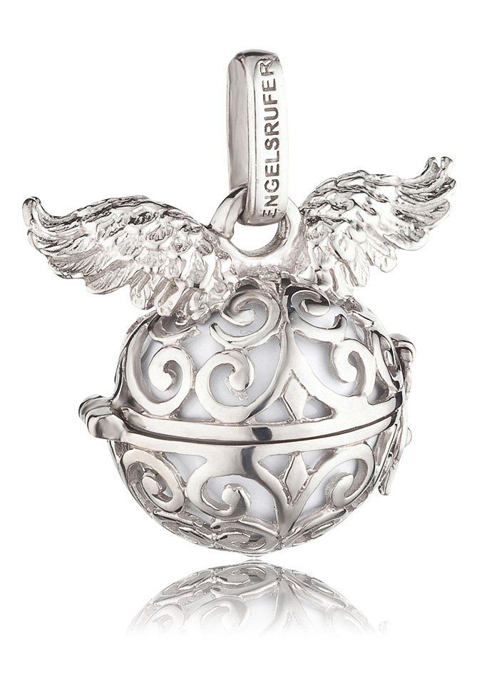 Engelsrufer Halsschmuck: Anhänger ohne Kette mit Flügel, Größe L (ca. 24 mm), »ER-01-WING-L« in Silber 925/weiß