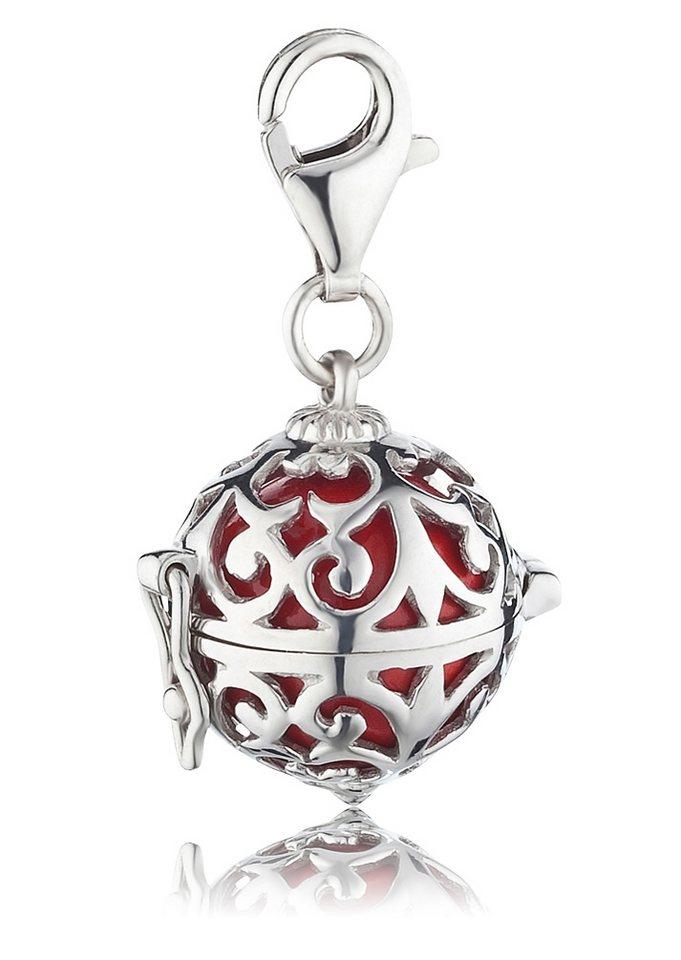 Charms-Einhänger, »ERC-05«, Engelsrufer in Silber 925/rot