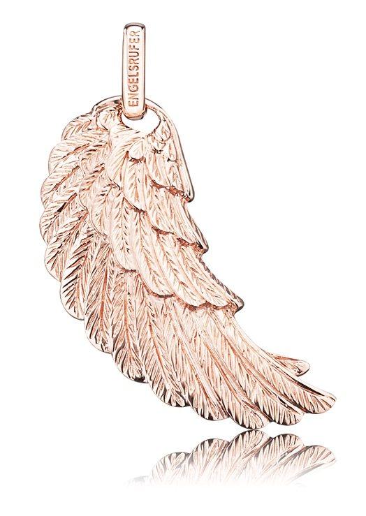 Engelsrufer Halsschmuck: Anhänger ohne Kette »Flügel, ERW-R« verschiedene Größen in Silber 925/rosegoldfarben