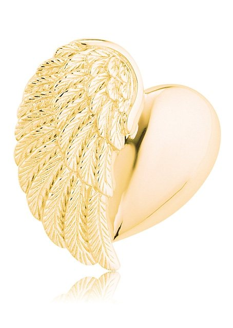 Engelsrufer Halsschmuck: Anhänger ohne Kette »Herzflügel, ERP-HEARTWING-G« in Silber 925, vergoldet
