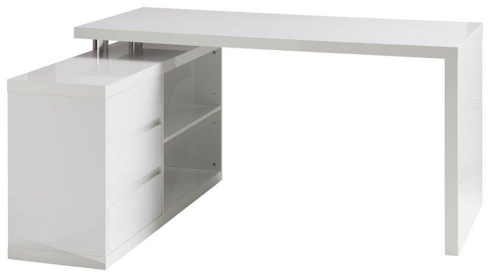 winkel schreibtisch hmw split mit regalelement und 3. Black Bedroom Furniture Sets. Home Design Ideas