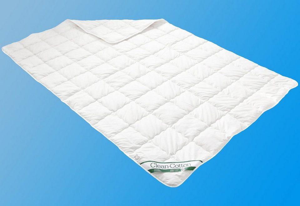 naturfaserbettdecke clean cotton leicht badenia leicht f llung 100 baumwolle bezug 100. Black Bedroom Furniture Sets. Home Design Ideas