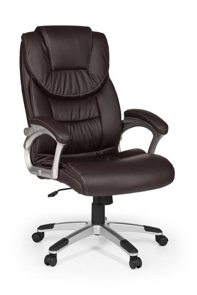 Bürostühle - Amstyle Chefsessel »MADRID« mit dicker Polsterung » braun  - Onlineshop OTTO