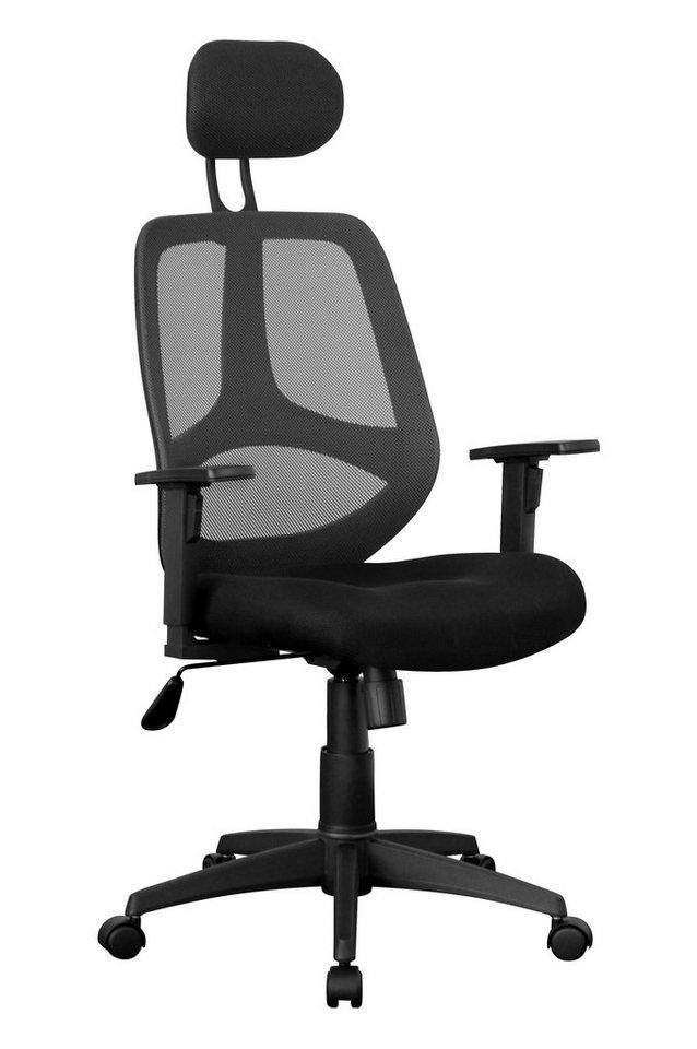 Amstyle Chefsessel »FLORENZ-2« in schwarz