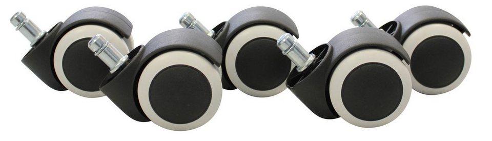 Hartbodenrollen, Amstyle, »SPM1-913«, gebremst in schwarz-weiß