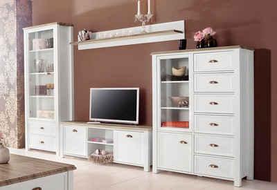 Wohnzimmermöbel massiv  Massivholz Wohnwand kaufen » Holz & Holzoptik | OTTO