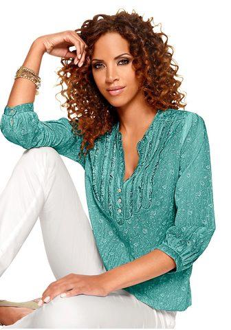 Classic блуза с сдержанный цветочным у...