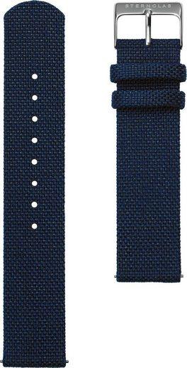 STERNGLAS Uhrenarmband »Nylon 20 nachtblau silber, SBA00/608«