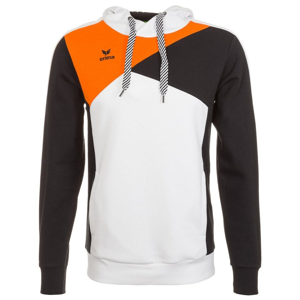 ERIMA Hoodie Herren in weiß/schwarz/orange