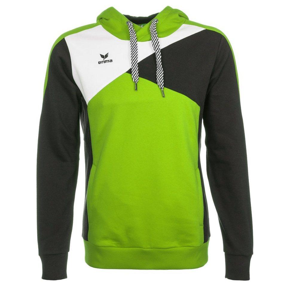 ERIMA Premium One Hoodie Kinder in green/schwarz/weiß