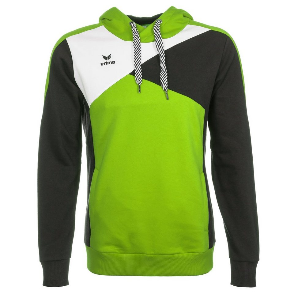 ERIMA Premium One Hoodie Herren in green/schwarz/weiß