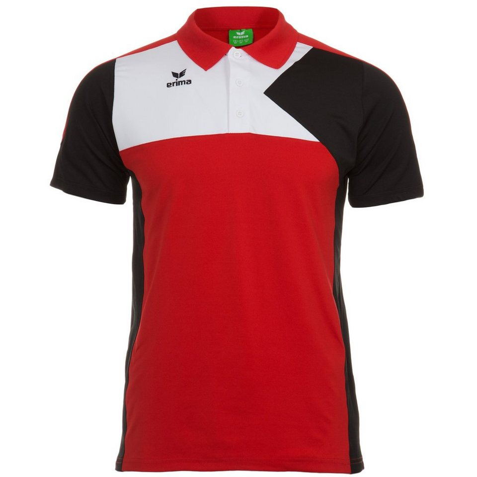 ERIMA Premium One Poloshirt Herren in rot/schwarz/weiß