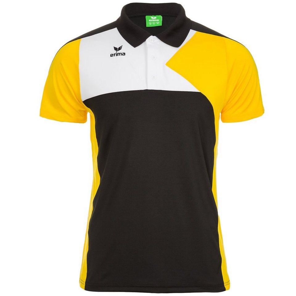 ERIMA Premium One Poloshirt Damen in schwarz/gelb/weiß