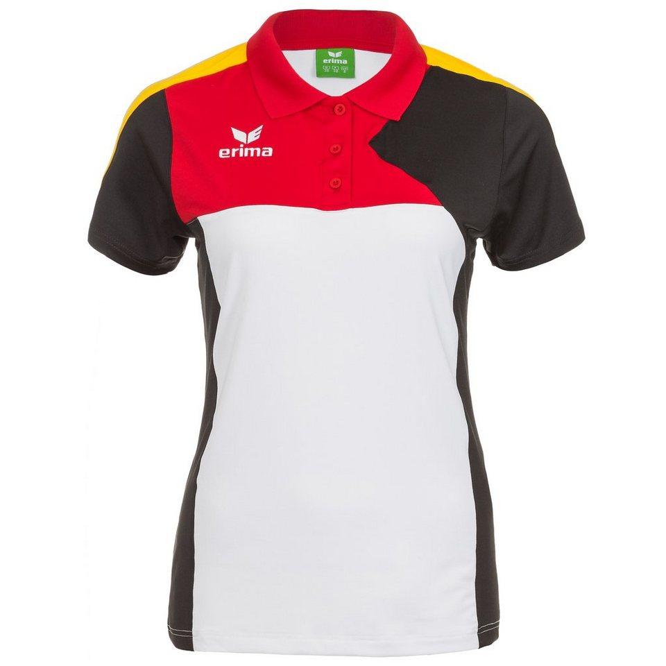 ERIMA Premium One Poloshirt Damen in weiß/schwarz/rot