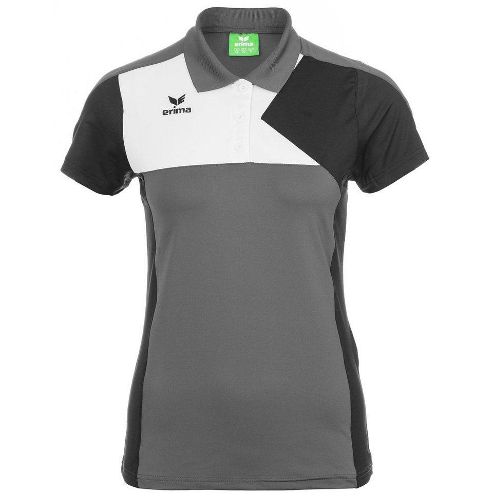ERIMA Premium One Poloshirt Damen in granit/schwarz/weiß