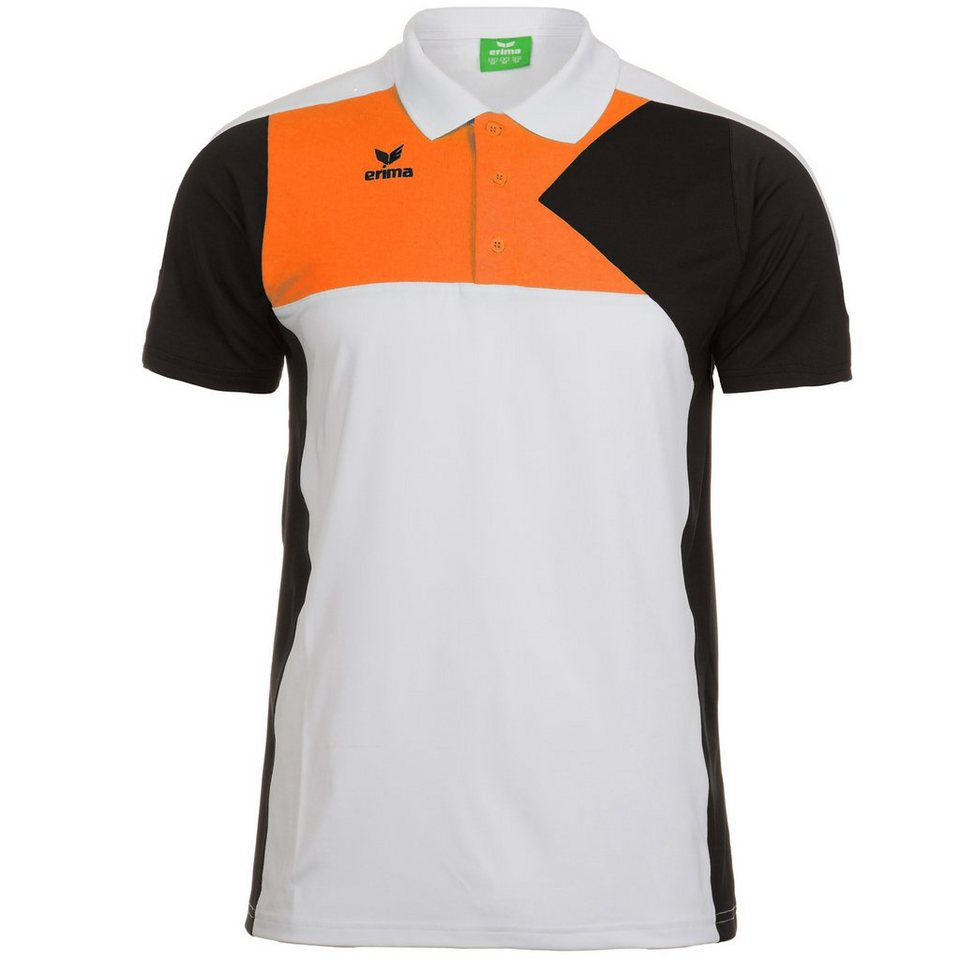 ERIMA Premium One Poloshirt Herren in weiß/schwarz/orange
