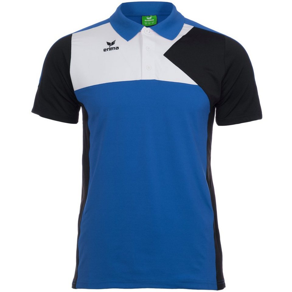 ERIMA Premium One Poloshirt Herren in new royal/schwarz