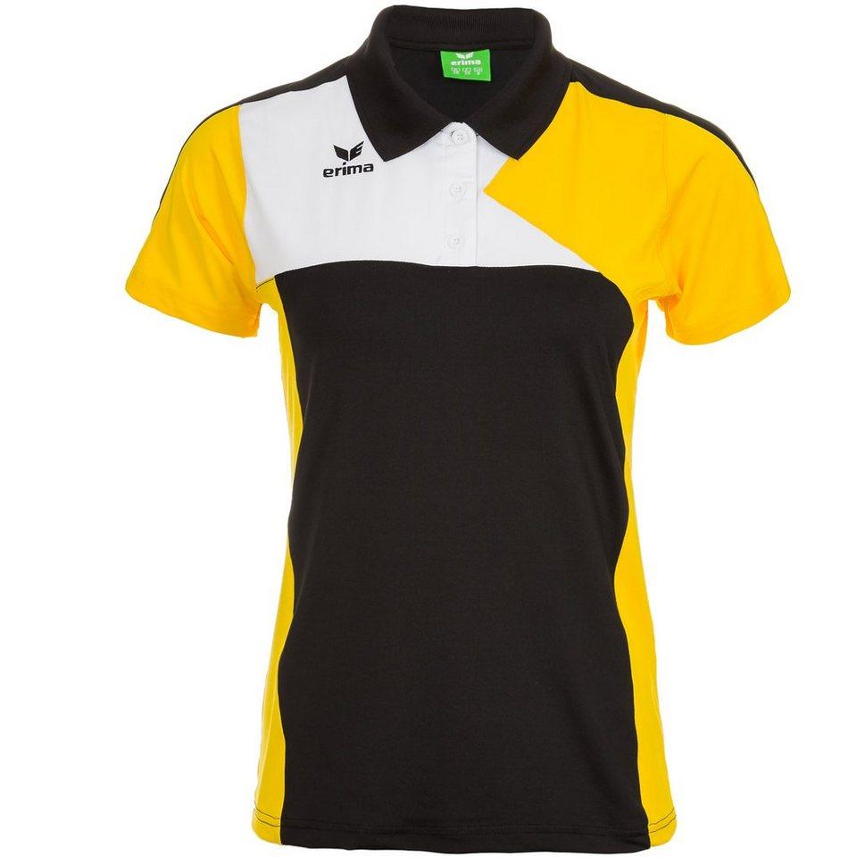 ERIMA Premium One Poloshirt Kinder in schwarz/gelb/weiß