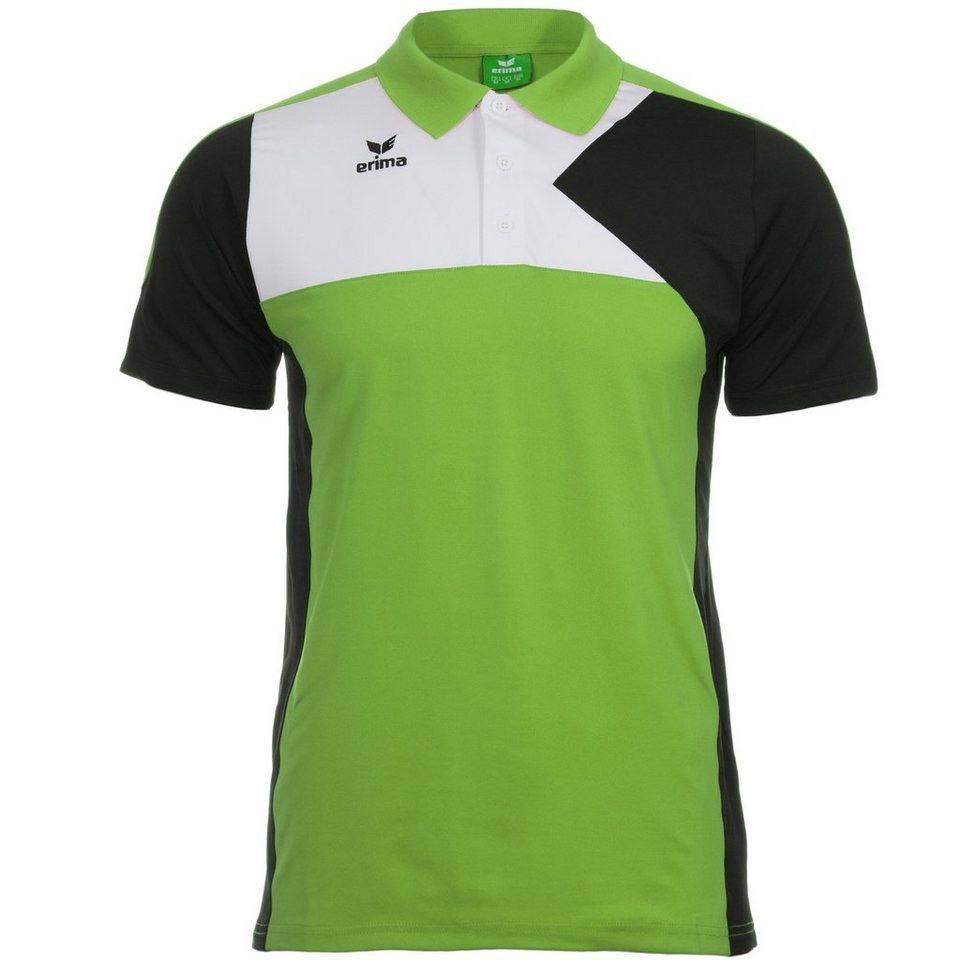 ERIMA Premium One Poloshirt Kinder in green/schwarz/weiß