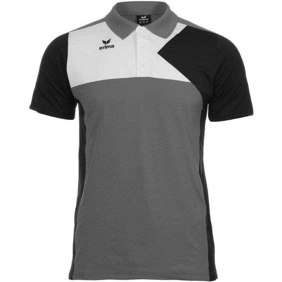 ERIMA Premium One Poloshirt Kinder in granit/schwarz/weiß