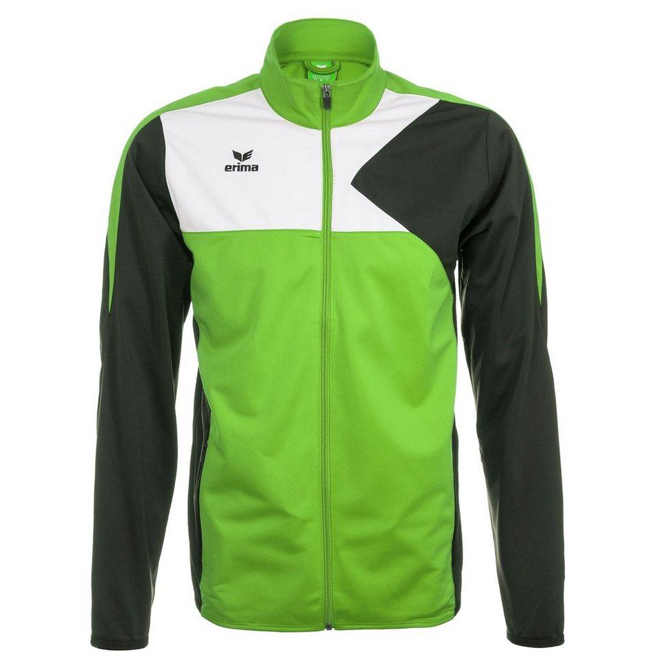 ERIMA Premium One Polyesterjacke Kinder in green/schwarz/weiß