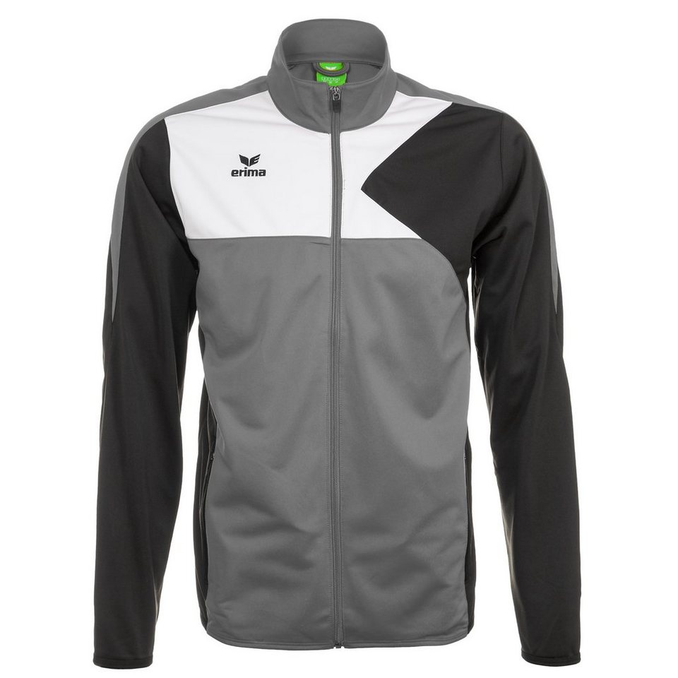 ERIMA Premium One Polyesterjacke Herren in granit/schwarz/weiß