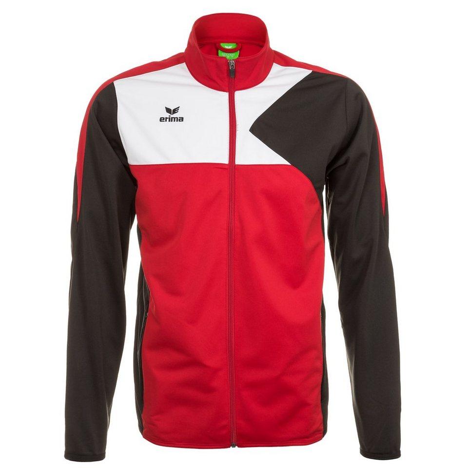 ERIMA Premium One Polyesterjacke Kinder in rot/schwarz/weiß