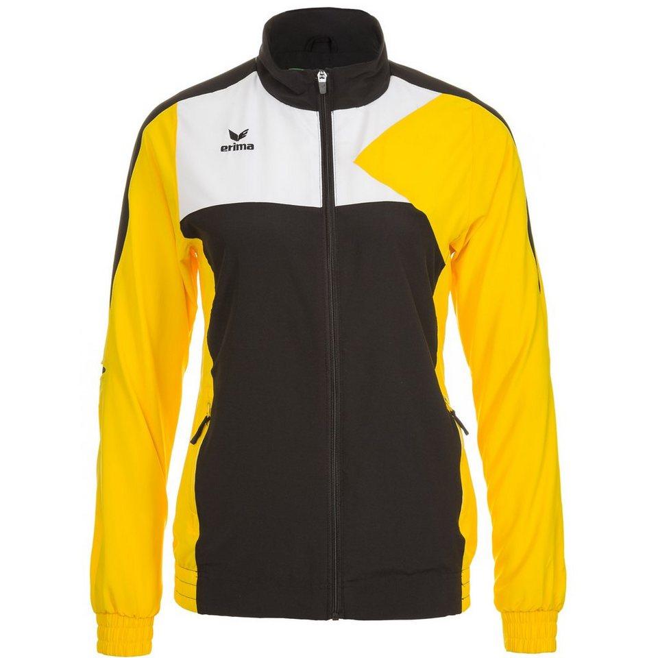 ERIMA Premium One Präsentationsjacke Damen in schwarz/gelb/weiß