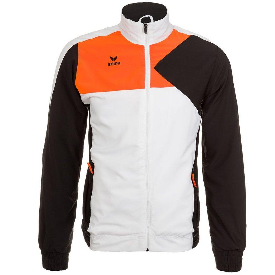 ERIMA Premium One Präsentationsjacke Herren in weiß/schwarz/orange