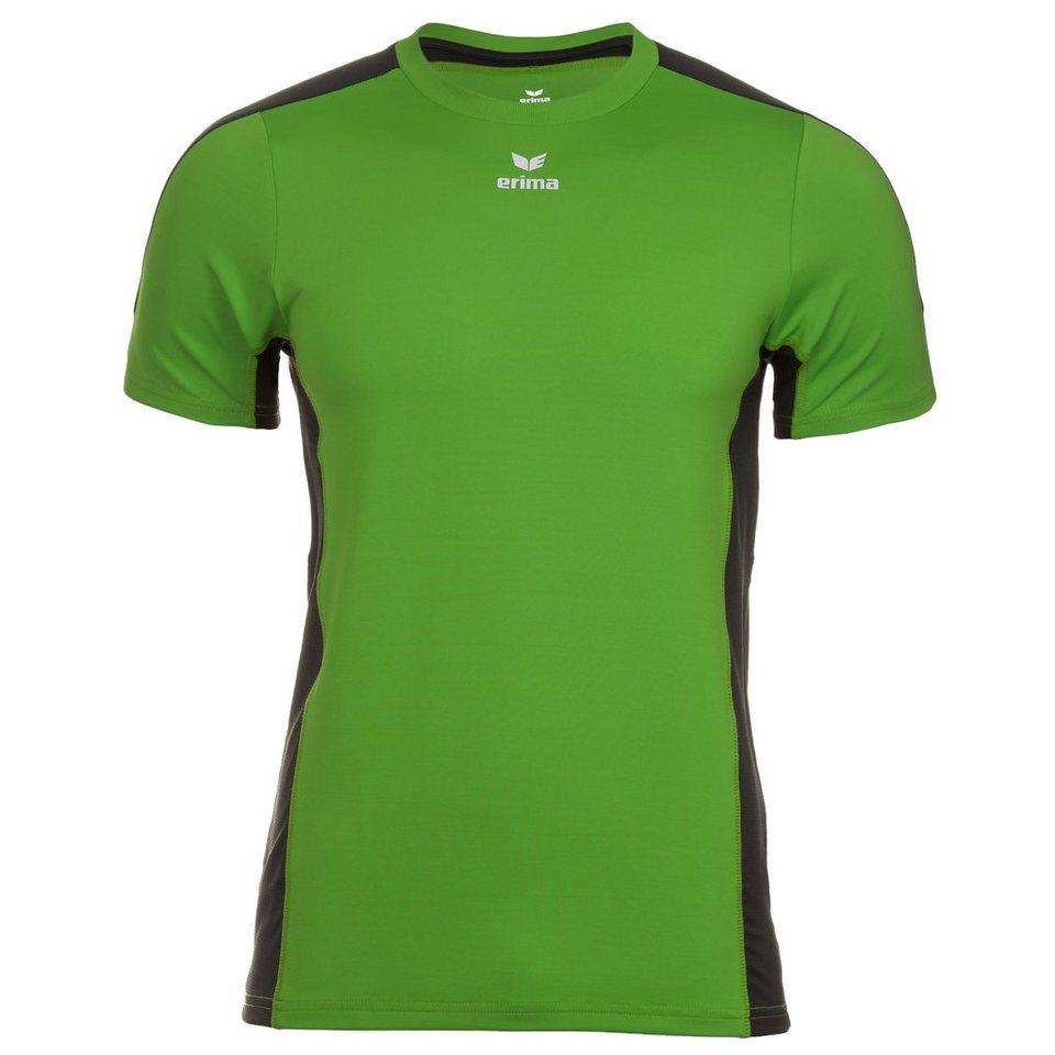 ERIMA Premium One Running T-Shirt Kinder in green/schwarz